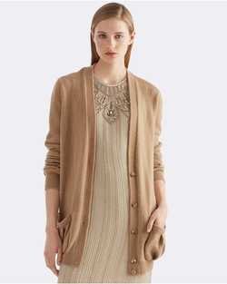 Cashmere V-Neck Cardigan by Ralph Lauren in Valentine's Day