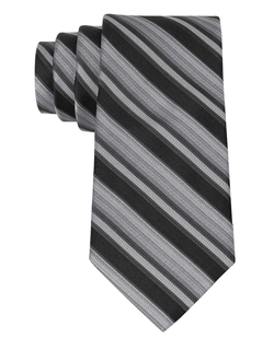 Slim Fit Silk Silver Streak Stripe Tie by Calvin Klein in Bridge of Spies