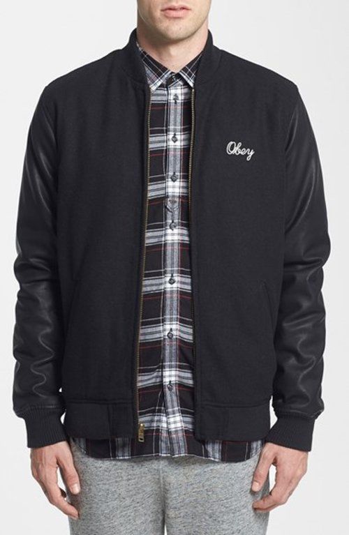 Soto Varsity Jacket by Obey in The Town