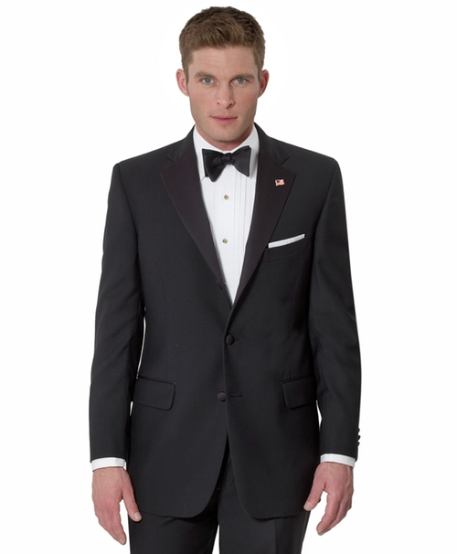 Three-Button Madison Fit Tuxedo Jacket by Brooks Brothers in Arrow - Season 4 Episode 9
