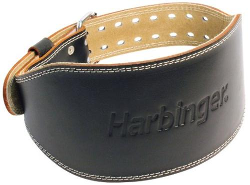 285 6-Inch Padded Leather Lifting Belt by Harbinger in Pain & Gain
