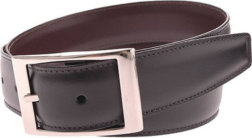 Aniline Leather Reversible Belt by Torino in Drive
