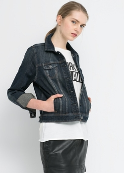 Dark Denim Jacket by Mango in Pitch Perfect