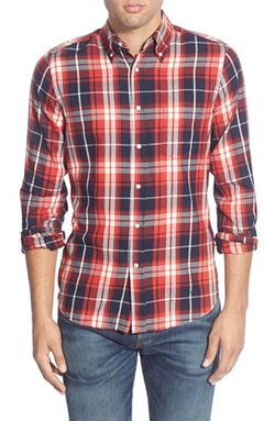 'Windblown Plaid' Twill Woven Shirt by Gant Rugger in Master of None
