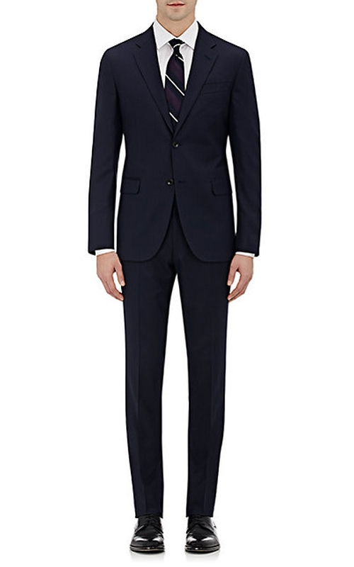 Striped Two-Button Suit by Barneys New York in Guilt - Season 1 Episode 1
