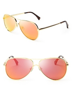 Airfox II Deluxe Mirrored Aviator Sunglasses by Wildfox in Keeping Up With The Kardashians