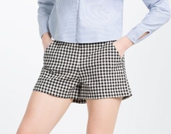 High Rise Check Shorts by Zara in Riverdale