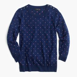 Polka-Dot Tippi Sweater by J.Crew in Scream Queens