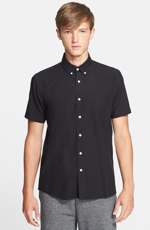 'Esquina' Trim Fit Oxford Woven Shirt by Saturdays NYC in Boyhood