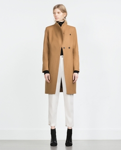 Wool Coat by Zara in Arrow