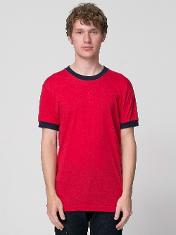 Poly-Cotton Ringer T -Shirt by American Apparel in Boyhood