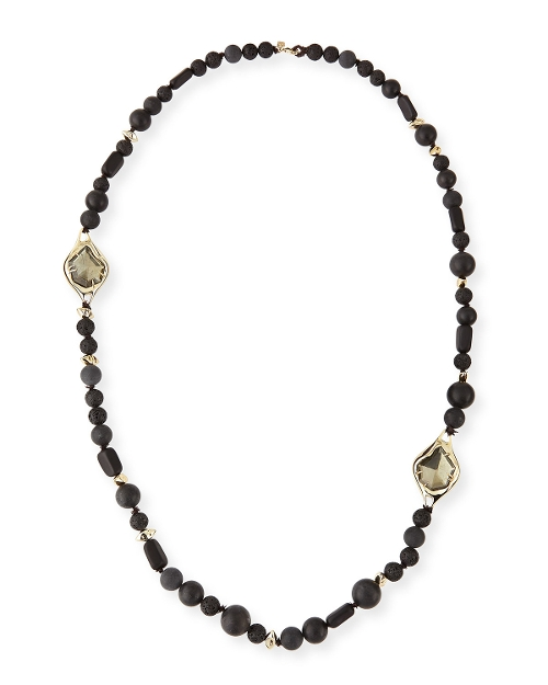 Miss Havisham Onyx Beaded Necklace by Alexis Bittar in The Second Best Exotic Marigold Hotel