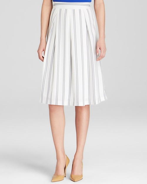 Vertical Stripe Skirt by J.O.A. in Pretty Little Liars - Season 6 Episode 12