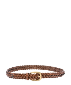 Braided Leather Square Buckle Belt by Gucci in Empire