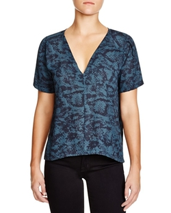 Snake-Print Top by Aqua in Cabin in the Woods