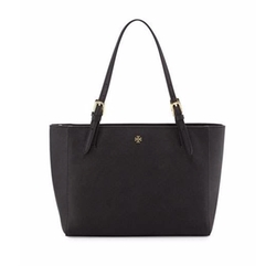 York Small Saffiano Tote Bag by Tory Burch in The Circle