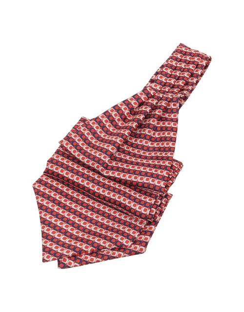 Optical Print Silk Ascot Tie by Forzieri in Austin Powers in Goldmember