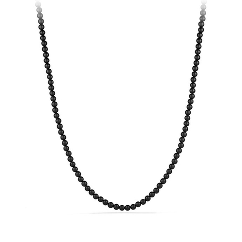 Spiritual Bead Necklace With Black Onyx by David Yurman in Kingsman: The Secret Service