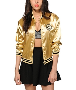Gold Bomber Jacket by Custom Made in Pitch Perfect 2