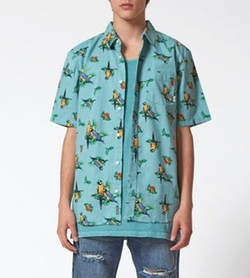 Parrots Short Sleeve Button Up Shirt by Vans in New Girl