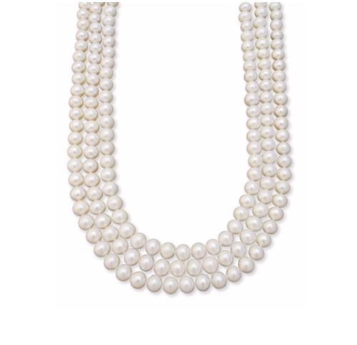 Three Row Cultured Freshwater Pearl by Macy's in The Boss