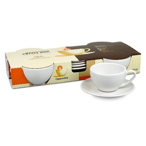 Cappuccino Cups and Saucers by Konitz Coffee Bar in Fifty Shades of Grey