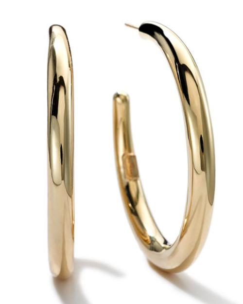 18K Gold #3 Smooth Hoop Earrings by Ippolita in The Other Woman