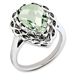 Green Quartz Ring by Jewelry Pot in Unfriended