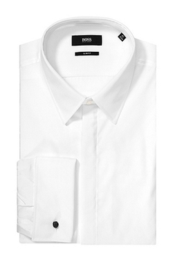 'Ilias' Slim Fit French Cuff Dress Shirt by Boss Hugo Boss in The Martian