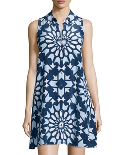 Mina Graphic-Print Sleeveless Shirtdress by Equipment in The Choice