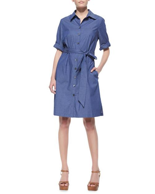 Belted Denim Shirtdress by Neiman Marcus	 in Laggies