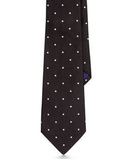 Polka-Dot Silk Satin Tie by Ralph Lauren in London Has Fallen