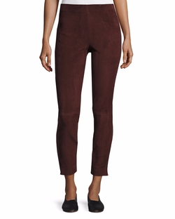 Stretch-Suede Cropped Pants by Vince in Shadowhunters