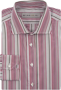 Variegated-Stripe Poplin Shirt by Etro in Sex and the City
