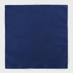 Men's Plain Navy Silk Pocket Square by Paul Smith in Suits