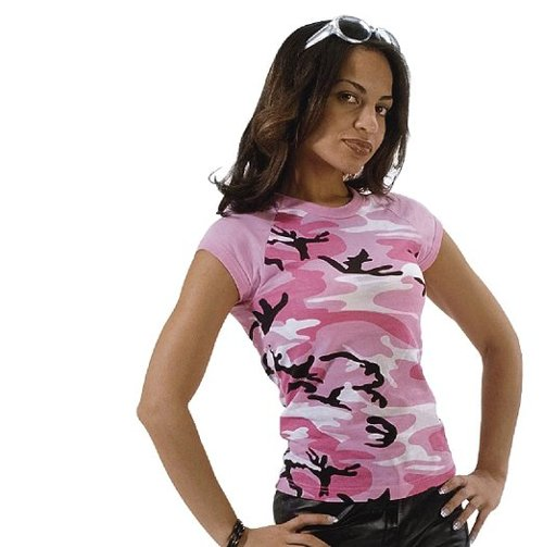 Pink Camo Raglan T-Shirt by Rothco in Pitch Perfect 2