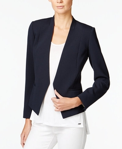 Collarless Open-Front Blazer by Armani Exchange in Suits