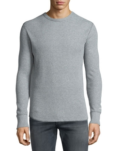Standard Issue Waffle-Knit Crewneck Sweater by Rag & Bone in The A-Team