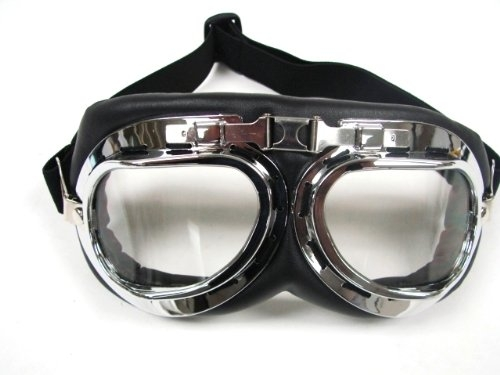 WWII RAF Aviator Pilot Motorcycle Half Helmet Goggles by TMS in Mad Max: Fury Road