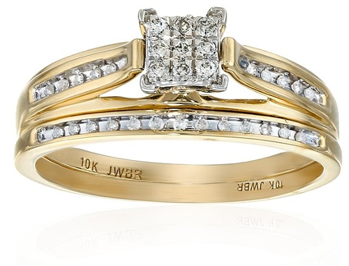 Diamond Square Center Bridal Ring by Amazon Curated Collection in The Longest Ride