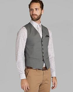 Farawai Cotton Birdseye Waistcoat by Ted Baker in Unbroken