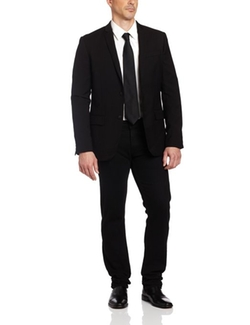 Men's Slim Fit Solid Jacket by Perry Ellis in Secret in Their Eyes