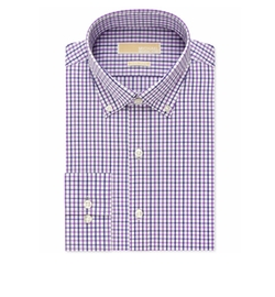 Helio Purple Multi Check Dress Shirt by Michael Michael Kors in Silicon Valley