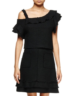 Off-The-Shoulder Ruffle Top by Proenza Schouler in Mistresses