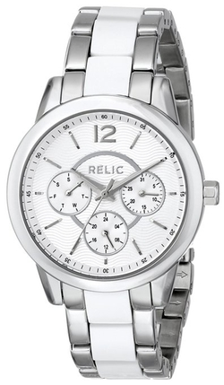 Women's Payton Multi Silvertone Watch by Relic in Spy