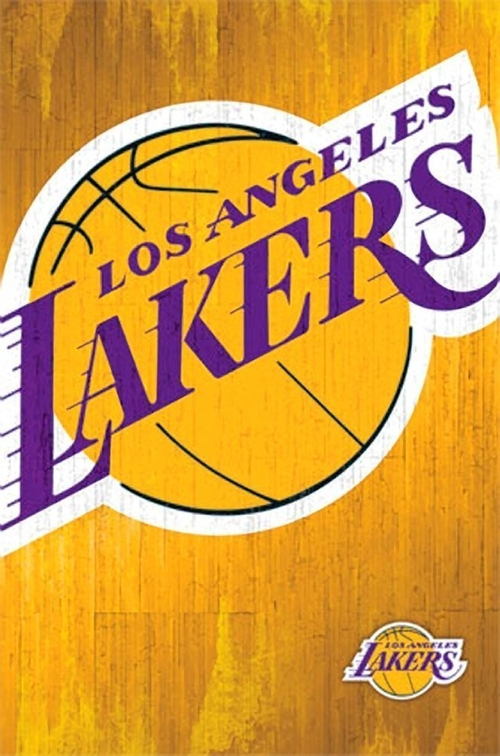 Los Angeles Lakers Logo 13 Wall Poster by PosterRevolution in Daddy's Home