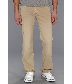 Carsen Easy Straight Washed Out Twill in Khaki Pants by 7 For All Mankind in Neighbors