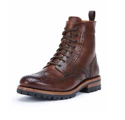 George Lugged Brogue Lace-Up Boots by Frye in The Bachelor