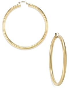Hoop Earrings by Signature Gold in Survivor