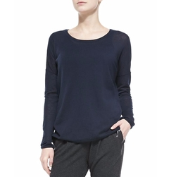 Crewneck Long-Sleeve Sweater by Vince in The Boss